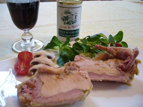 Caille au foie gras Ferme de ramon producteur canard Sud Ouest