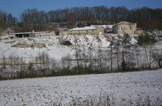 Ferme de Ramon sous la neige producteur foie gras 2012