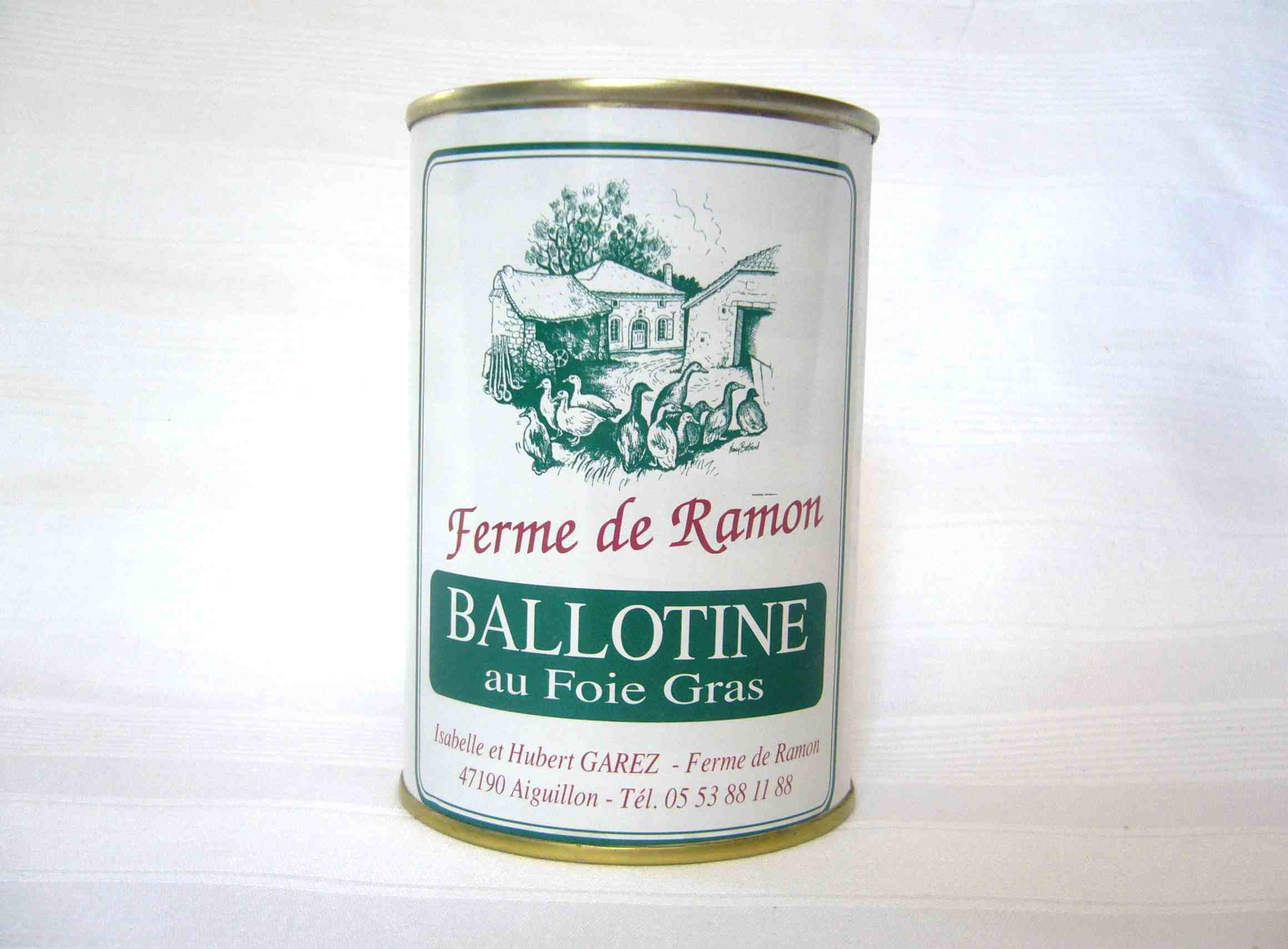 ballotine au foie gras ferme de ramon ferme de ramon. Black Bedroom Furniture Sets. Home Design Ideas