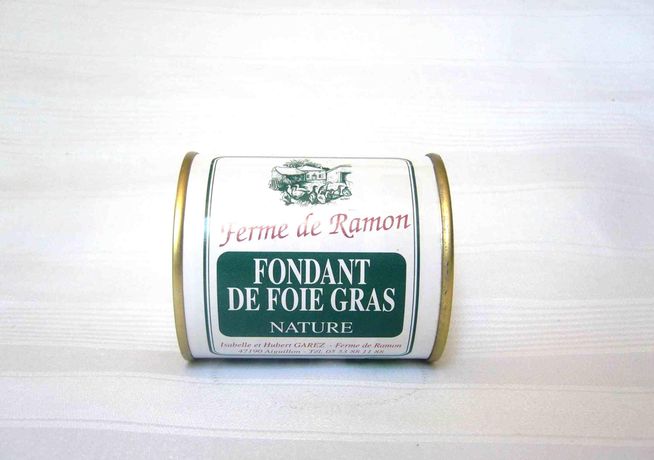 Produit - Fondant nature - Producteur foie gras