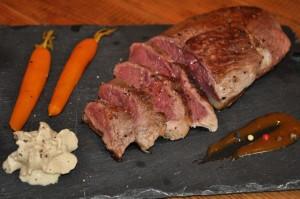 Assiette Magret Ferme de Ramon et carottes confites par Masterchef